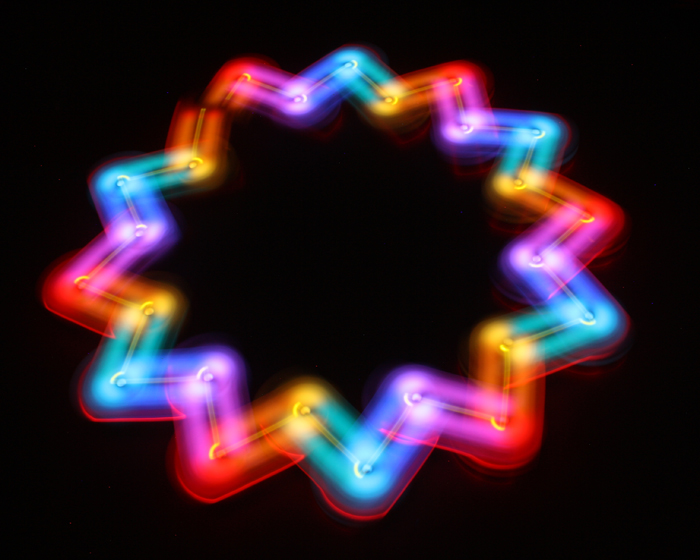 Thymio for light painting - Thymio & Aseba